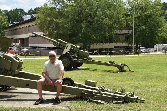 The reception station barracks are behind me in which George Korda stayed when he first arrived at Ft. Jackson.