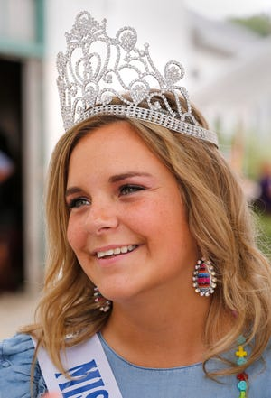 Tippecanoe County 4-H Fair Queen Rylie Miller Monday, July 23, 2018, in Lafayette. Miller will be a sophomore at Purdue in the fall.