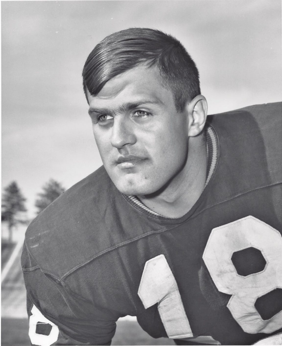 Bob Hadrick was a three-time first team All-Big Ten selection for Purdue in the mid-1960s