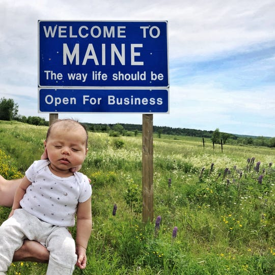 Harper Yeats is on an epic road trip to visit it all 50 United States with her family by the time she turns 6 months. Her parents snap a photo of her with a state sign to mark each one. Maine was Harper's first state to visit. Louisiana was 19th.