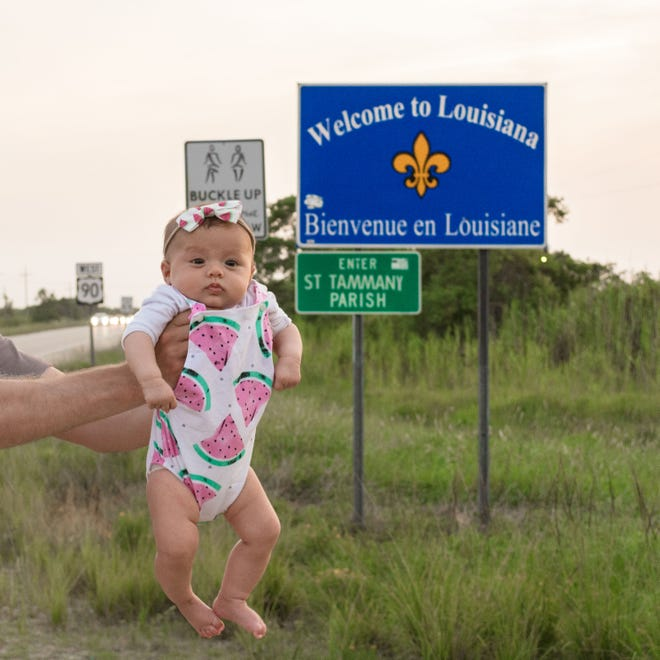 Harper Yeats and her family are on an epic road trip to visit it all 50 United States by the time Harper turns 6 months. Louisiana is the baby's 19th state to visit.