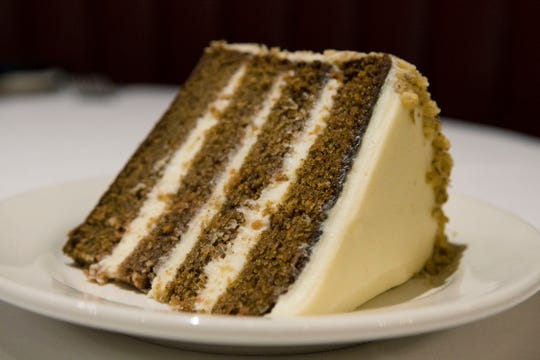 Carrot cake at Bob's Steak & Chop House at the Omni Hotel on Thursday, July 19, 2018.