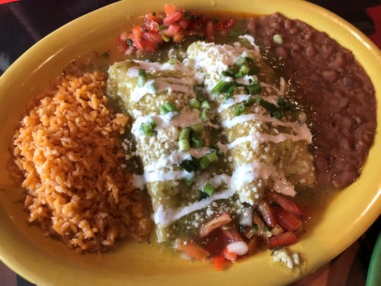 The enchiladas suizas at Margaritas, Marco Island.