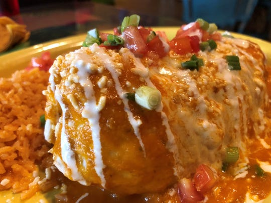 The tinga burrito at Margaritas, Marco Island.