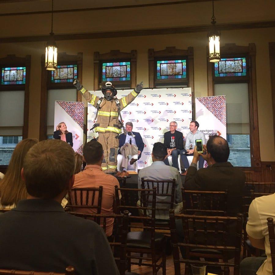 Four Democrats in best financial position to challenge Scott Walker meet at freewheeling forum focused on millennials