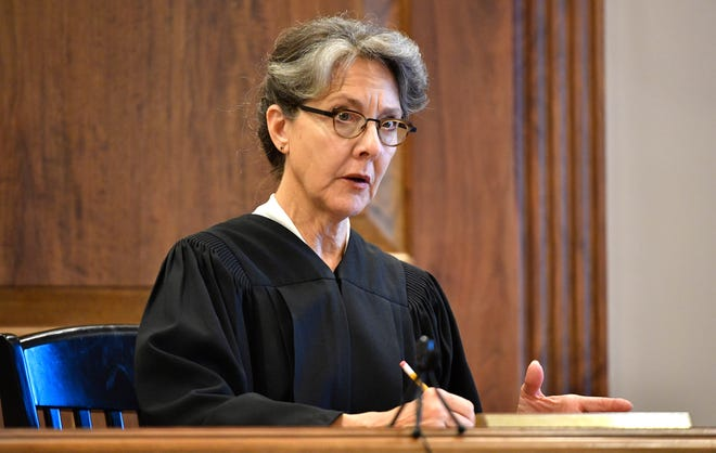 Davidson County Chancellor Ellen Hobbs Lyle presides over a lawsuit brought on by death row inmates contesting the use of lethal injection as unconstitutional because, they say, it would lead to cruel and unusual punishment, at Chancery Court Part lll, Metro City HallMonday July 23, 2018, in Nashville, Tenn.