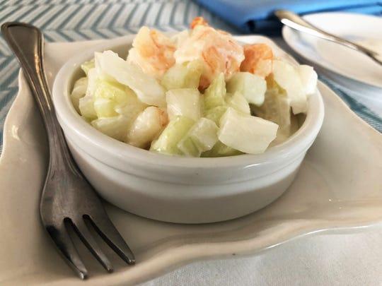 The shrimp pina colada from Bistro La Baguette.