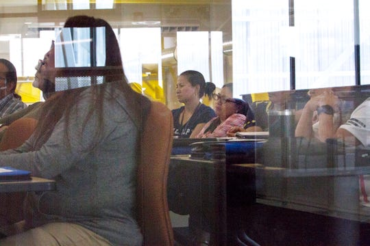 """Educators gathered Monday during the """"Carbon Rocks! Teachers Workshop on Benefits of Coal"""" hosted by Navajo Transitional Energy Company at San Juan College School of Energy in Farmington."""