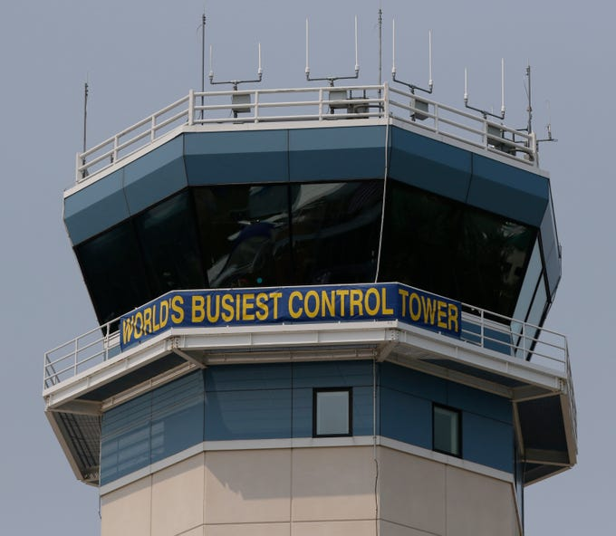 The busiest control tower is at Oshkosh during this week.  The first day of AirVenture 2018 opened on July 23, 2018.  Thousands of people will pass through the gates of AirVenture.