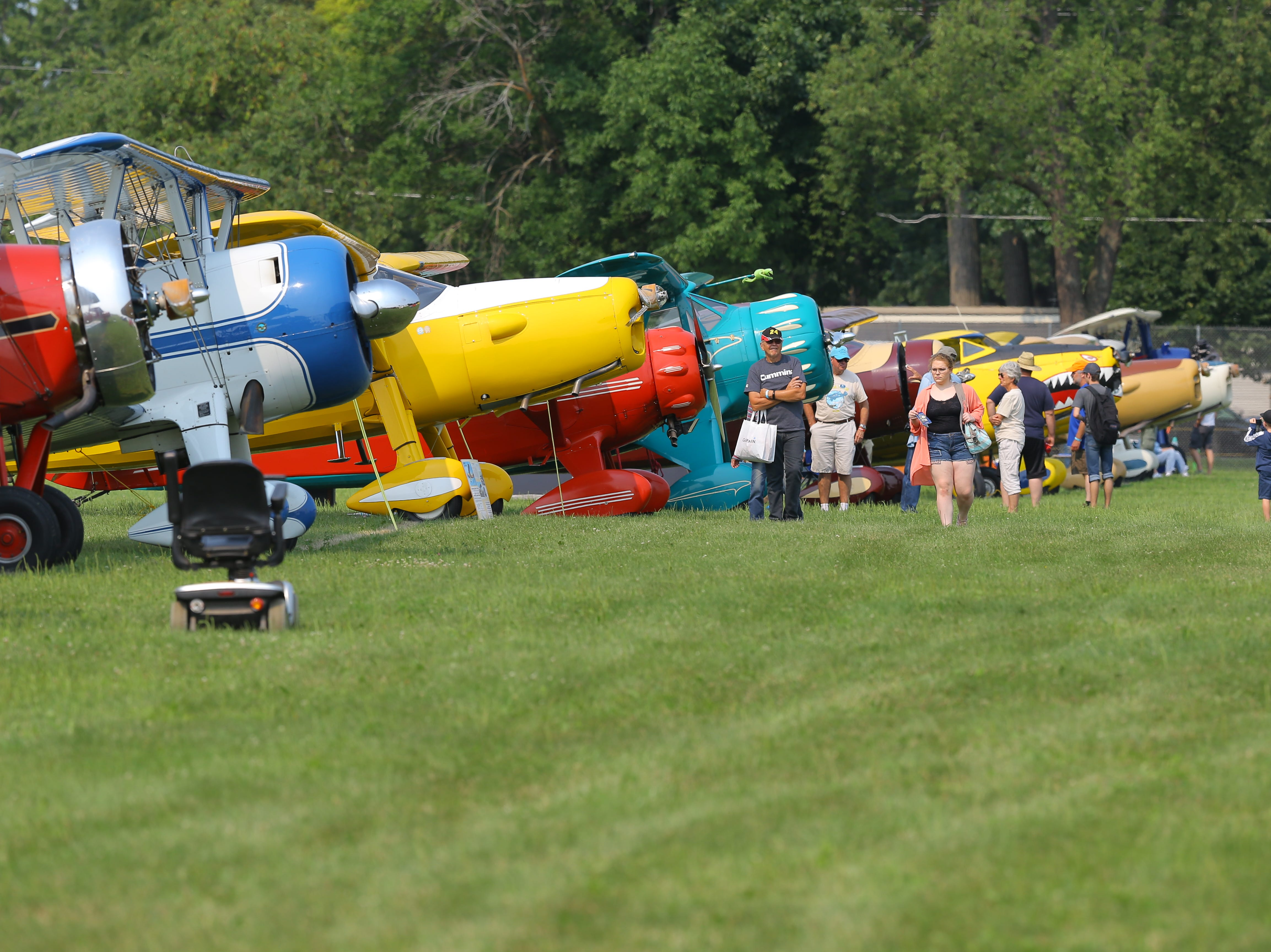 The Vintage Aircraft area drew many fans of the planes.  The first day of AirVenture 2018 opened on July 23, 2018.  Thousands of people will pass through the gates of AirVenture. Joe Sienkiewicz/USA Today NETWORK-Wisconsin