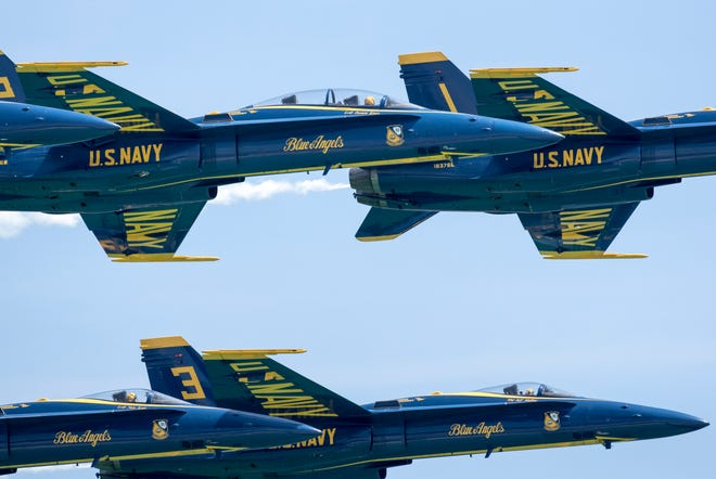 The Blue Angels will have a rare Friday practice this week.