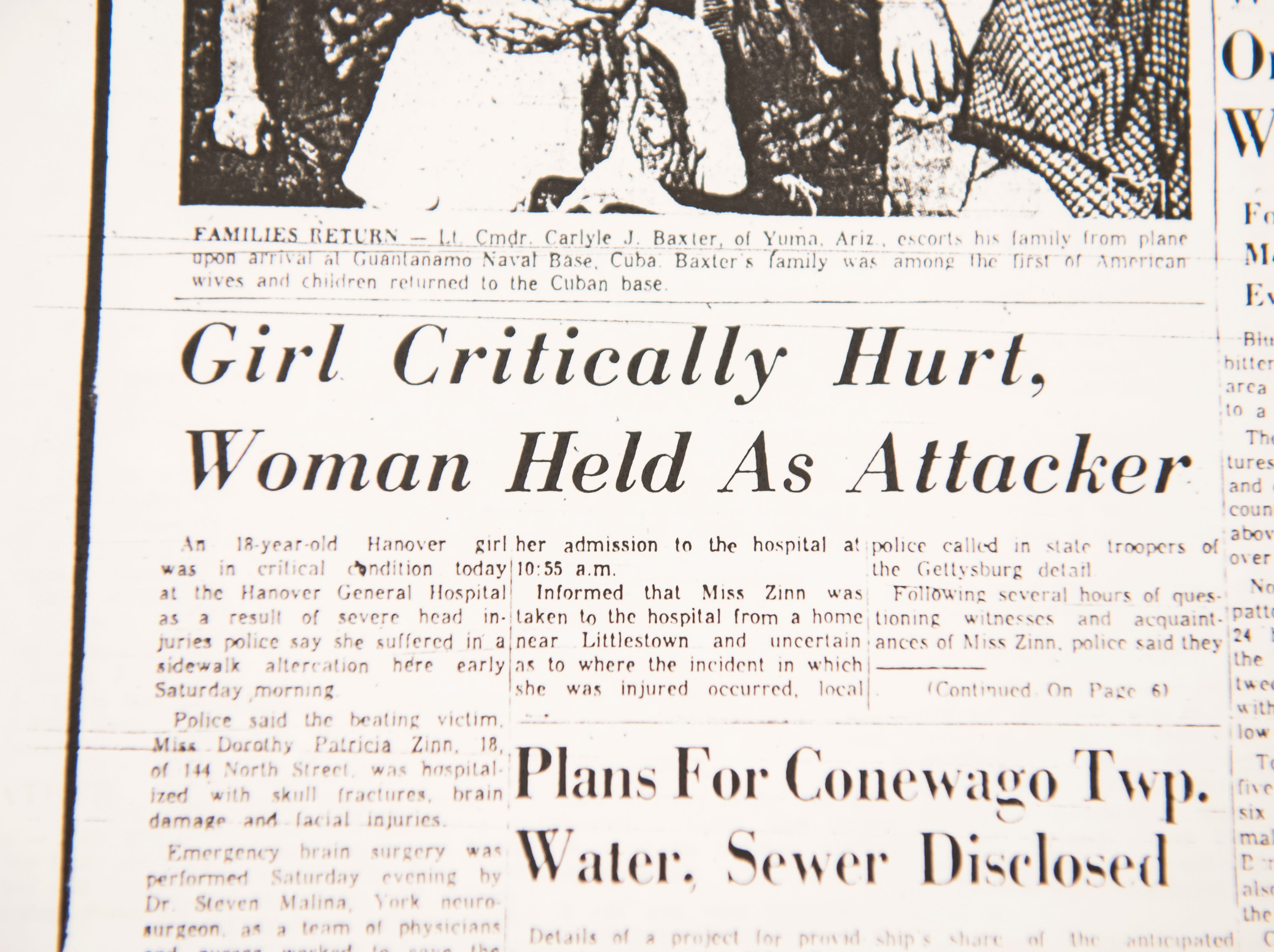 An article from 1962 details the case of Dorothy Zinn and Patricia Osborne Livingston who got in a fight over Livingston's husband.
