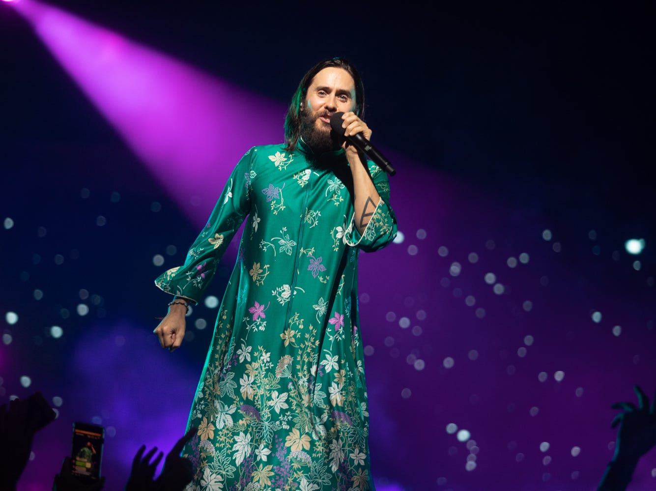 30 Seconds to Mars performs at Ak-Chin Pavilion on Sunday, July 22, 2018, in Phoenix.
