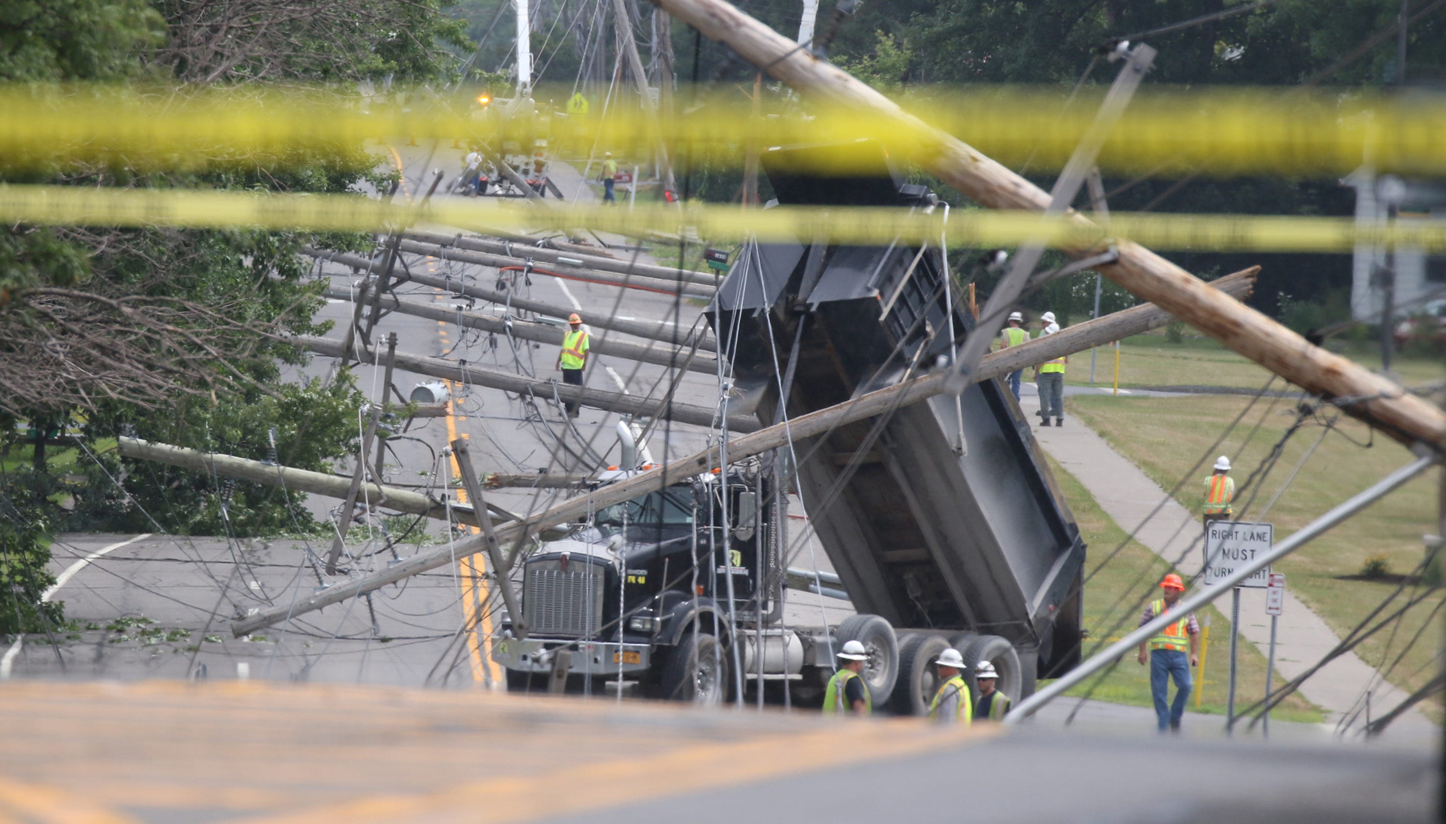 Downed lines: Truck driver Mark Inguaggito cited after knocking down ...