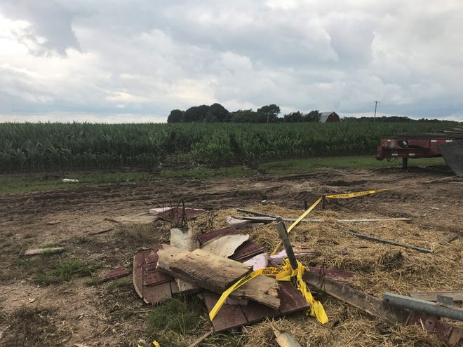 Scenes from where a vintage plane struck a family farm on Friday, July 20 in Sheboygan Falls. The vintage plane was part of an air show taking place during the weekend. The pilot was 50-year-old Martin J. Tibbitts. He died on impact, according to police.