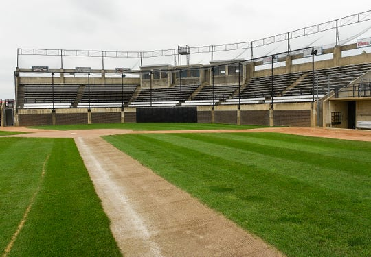 Dick Putz Field, part of the Municipal Athletic Complex, is in need of remodeling and improvements. It's shown Monday, July 23.
