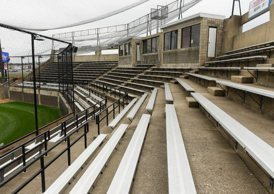 Dick Putz Field is in need of remodeling and improvements. It's shown Monday, July 23, at the Municipal Athletic Complex. The city of St. Cloud is considering raising the food, liquor and lodging taxes to pay for improvements to the MAC and other city facilities.