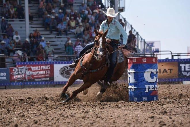 McKenna Coronado rides during the National High School Finals Rodeo