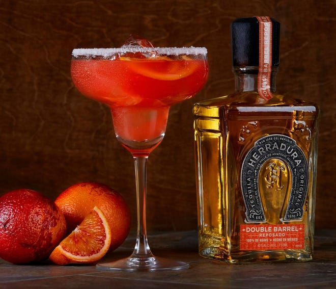 Duffy's Sports Grill has an all-day happy hour, which includes the Blood Orange Margarita.