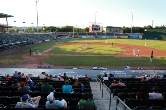 The Rockland Boulders play the Quebec Capitales at Palisades Credit Union Park in Pomona on July 19.