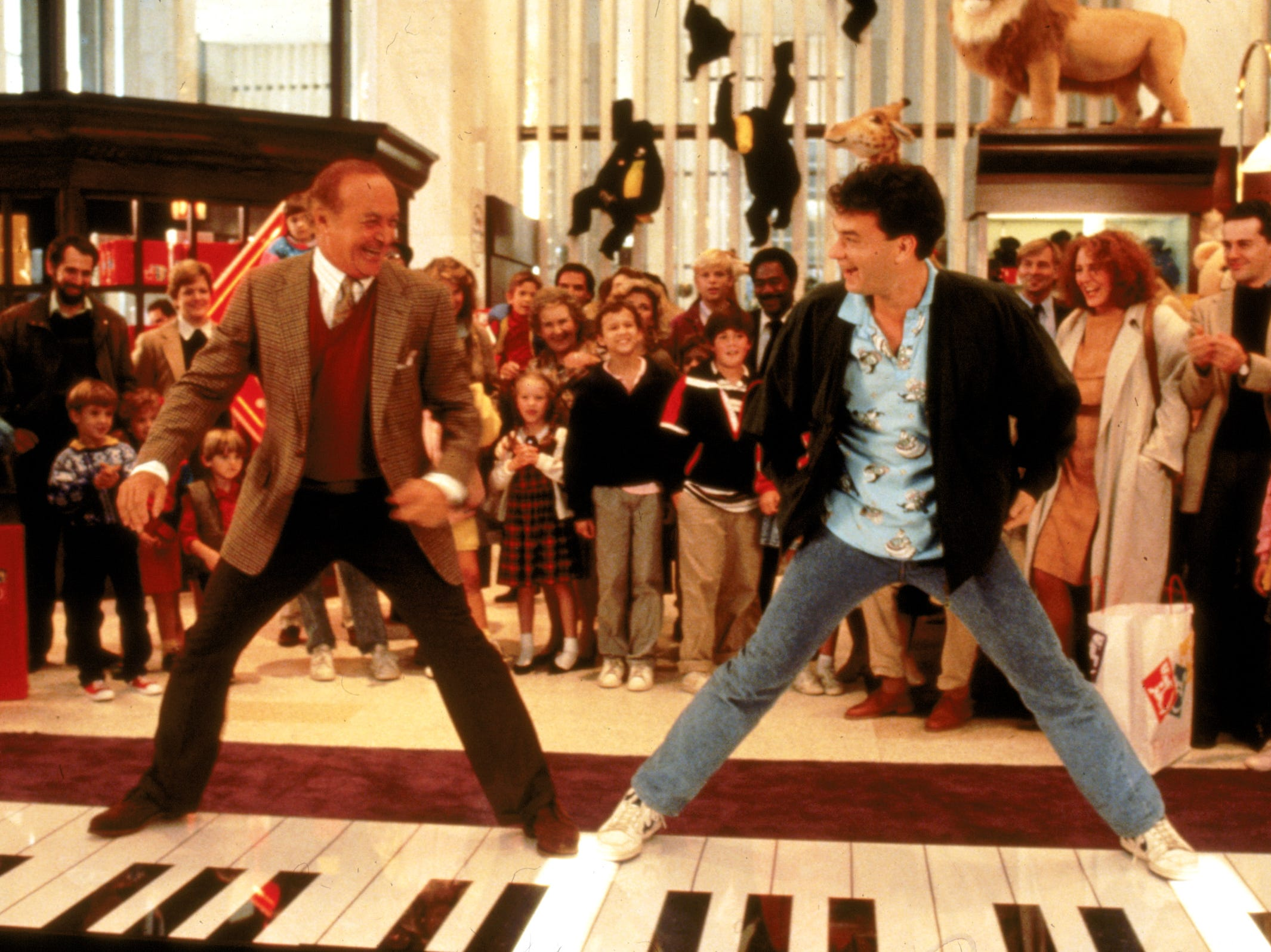 """Robert Loggia, left, and Tom Hanks in a scene from the 1988 motion picture """"Big."""" --- DATE TAKEN: 1983  No Byline   Warner Bros.        HO      - handout   ORG XMIT: ZX18047"""