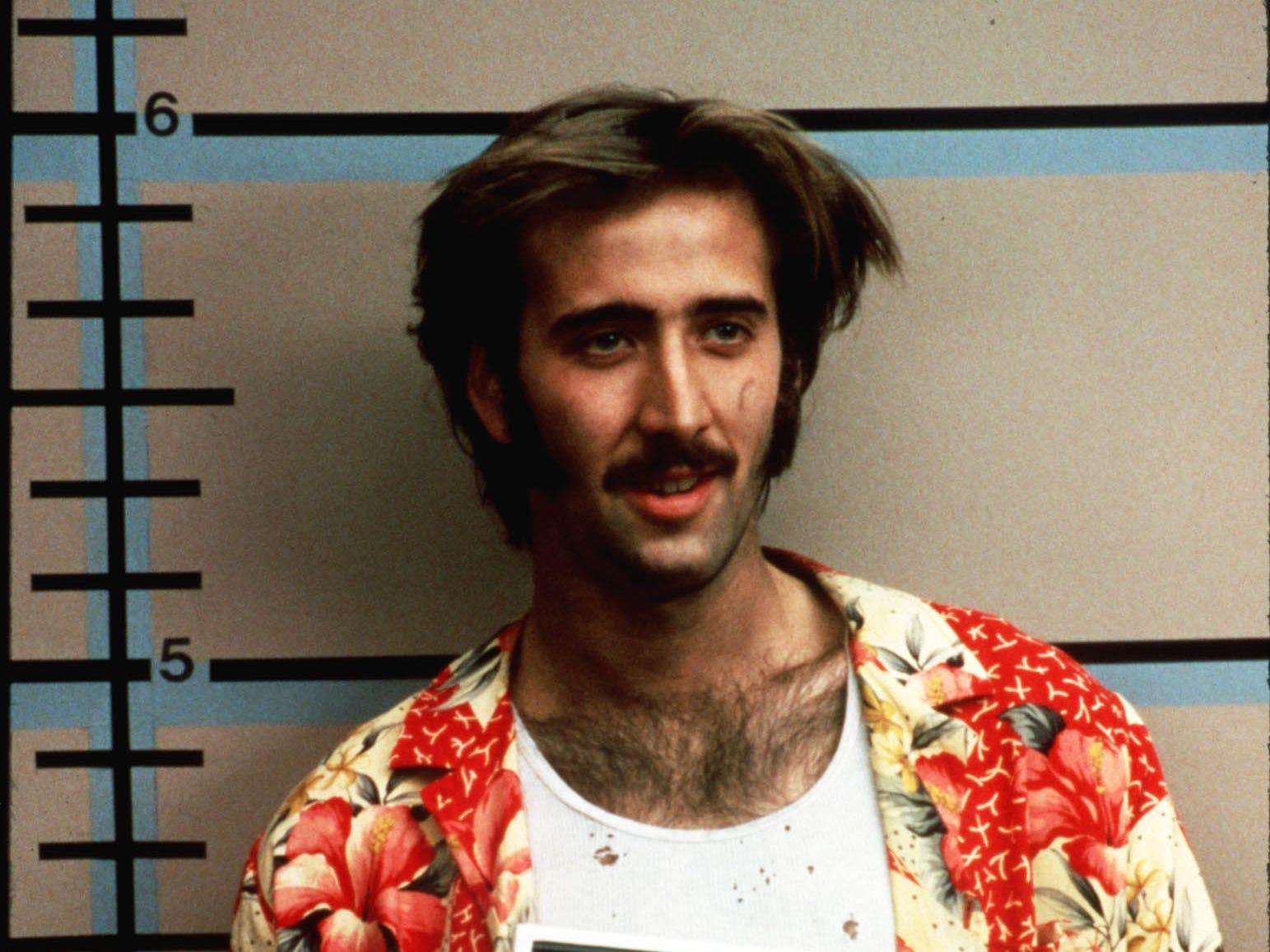Nicolas Cage in Raising Arizona  --- DATE TAKEN: 1987  By Melinda Sue Gordon   20th Century Fox , Source: 20th Century Fox       HO      - handout ORG XMIT: UT77656