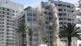 Police say a 12-story building on Miami Beach that was scheduled to be torn down collapsed unexpectedly, injuring one person.