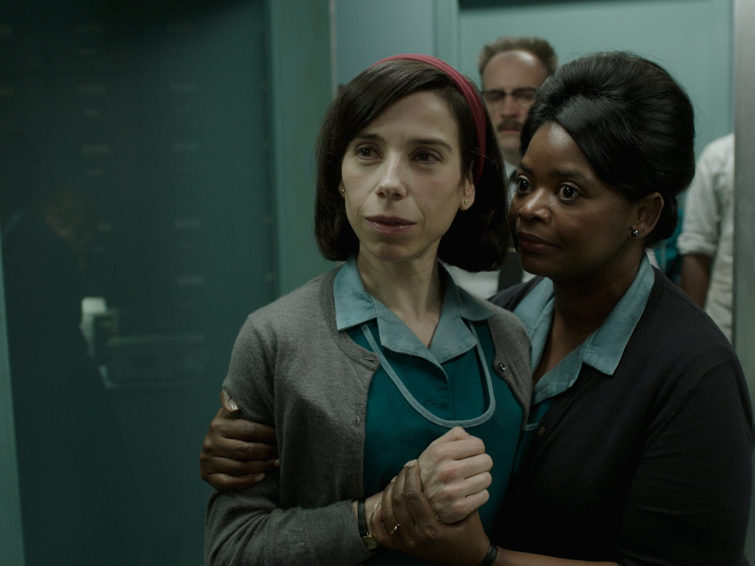 Sally Hawkins and Octavia Spencer in the film THE SHAPE OF WATER. Photo courtesy of Fox Searchlight Pictures.© 2017 Twentieth Century Fox Film Corporation All Rights Reserved [Via MerlinFTP Drop]