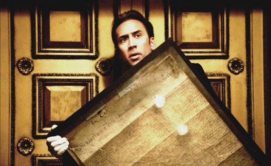"Ben Gates (Nicolas Cage) in a scene from ""National Treasure."""