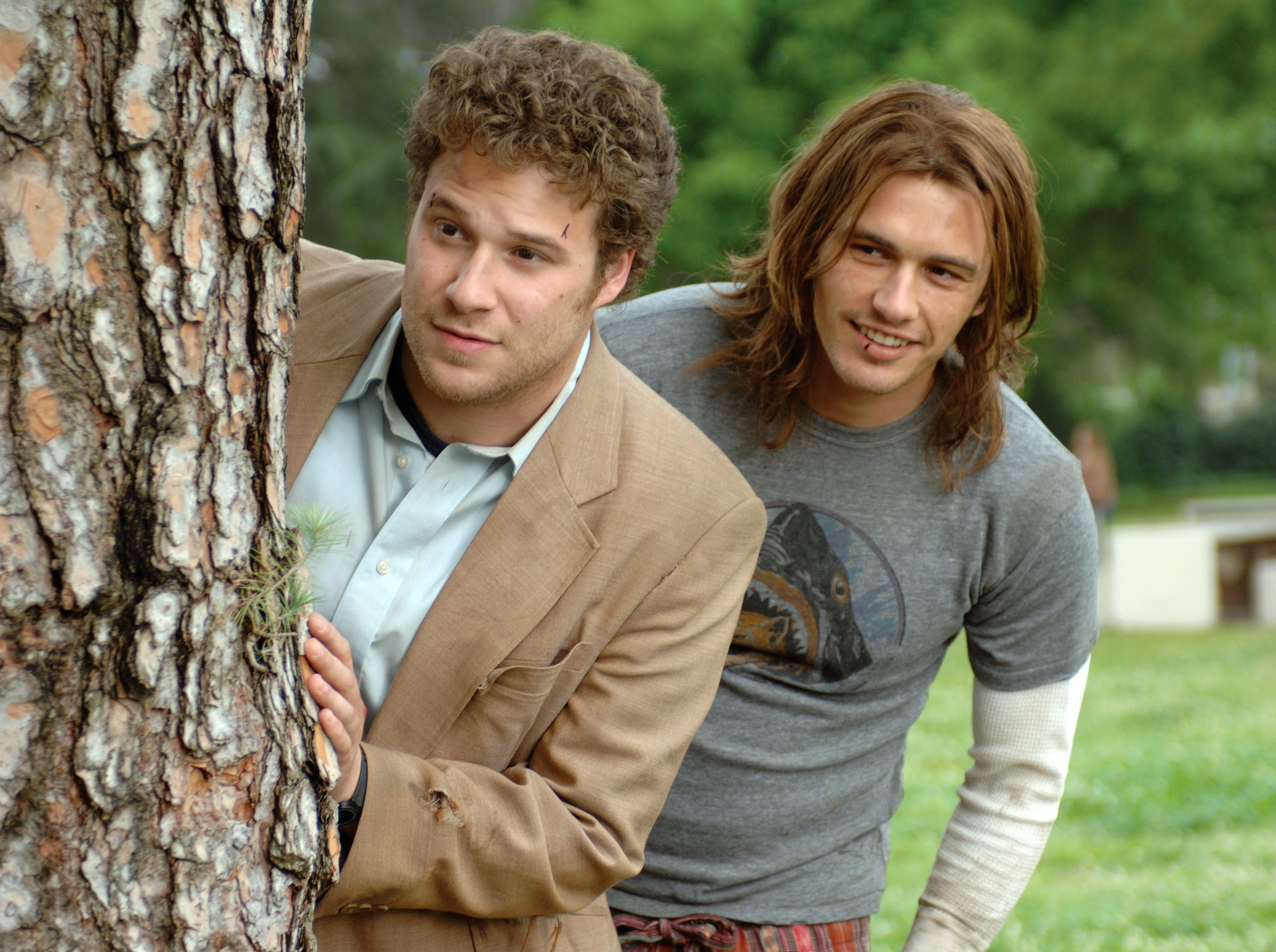 """Seth Rogen, left, and James Franco in a scene from the motion picture """"Pineapple Express."""" Photo by Dale Robinette, Sony Pictures (Via MerlinFTP Drop)"""