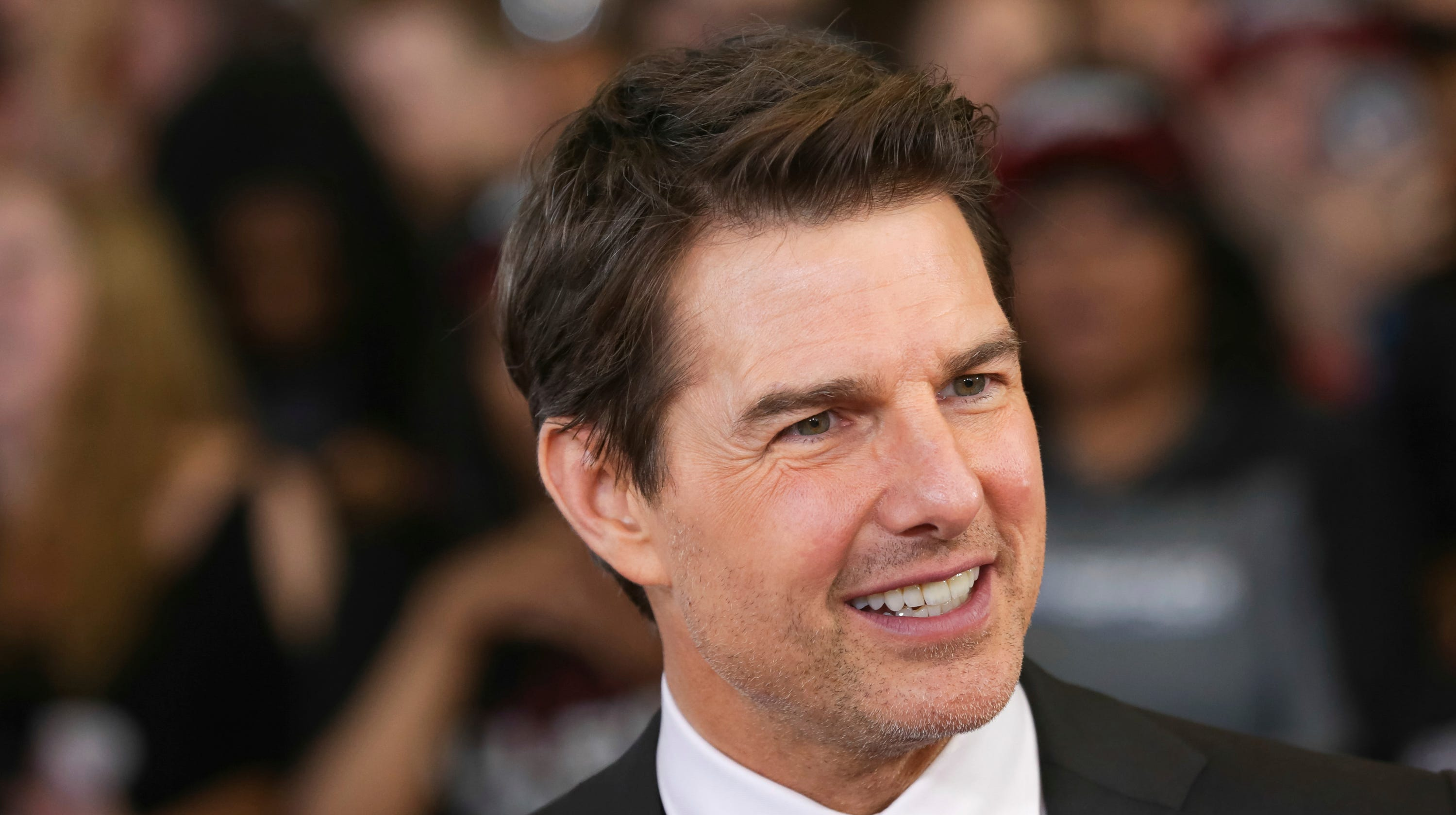 "Tom Cruise attends the U.S. premiere of ""Mission: Impossible - Fallout"" Sunday."