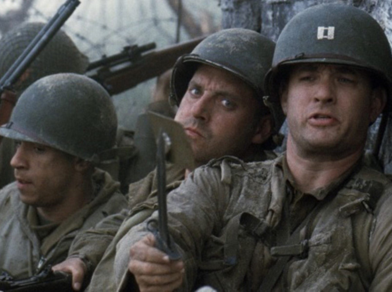 """This handout photo provided by DreamWorks and the Library of Congress shows Tom Hanks in a scene from the movie """"Saving Private Ryan."""" """"Saving Private Ryan"""" and """"Ferris Bueller's Day Off"""" are among 25 movies being inducted this year into the National Film Registry for long-term preservation, the Library of Congress announced Wednesday. The library selected films for their cultural, historic or aesthetic qualities. This year's selections span the years 1913 to 2004. They include such familiar and popular titles as """"The Big Lebowski"""" and """"Willy Wonka and the Chocolate Factory,"""" while others were milestones in film history. (AP Photo/DreamWorks, Library of Congress) ORG XMIT: WX501"""