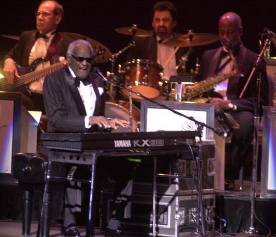 Ray Charles performs at the Peace Center.