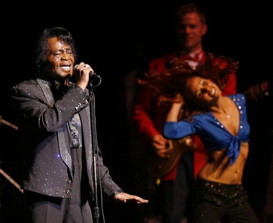 James Brown performs at the Peace Center, 5-24-06. Patrick Collard