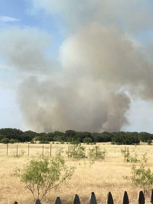 Image of the wildfire called 259 Fire south of Zephyr on Monday.