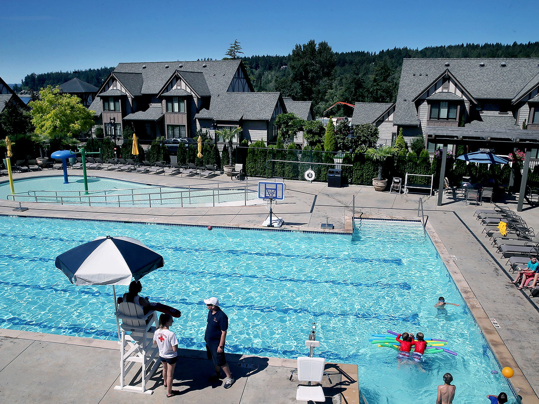 The new Pool at Pleasant Beach Village on Bainbridge Island is is open to the public with a membership.