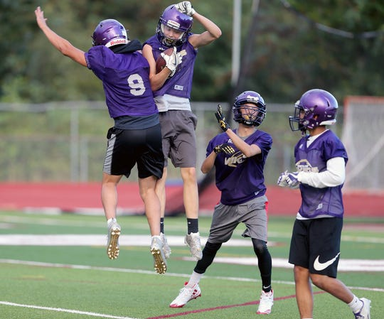 High school football teams typically train and participate in camps and 7-on-7 games in June and July in preparation for the fall season.