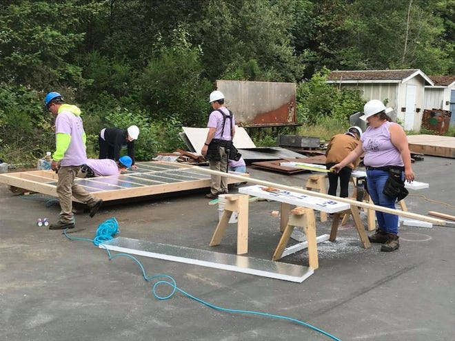 YouthBuild Kitsap's first cohort built a tiny cottage to be utilized by the Homes for All project in Port Orchard.