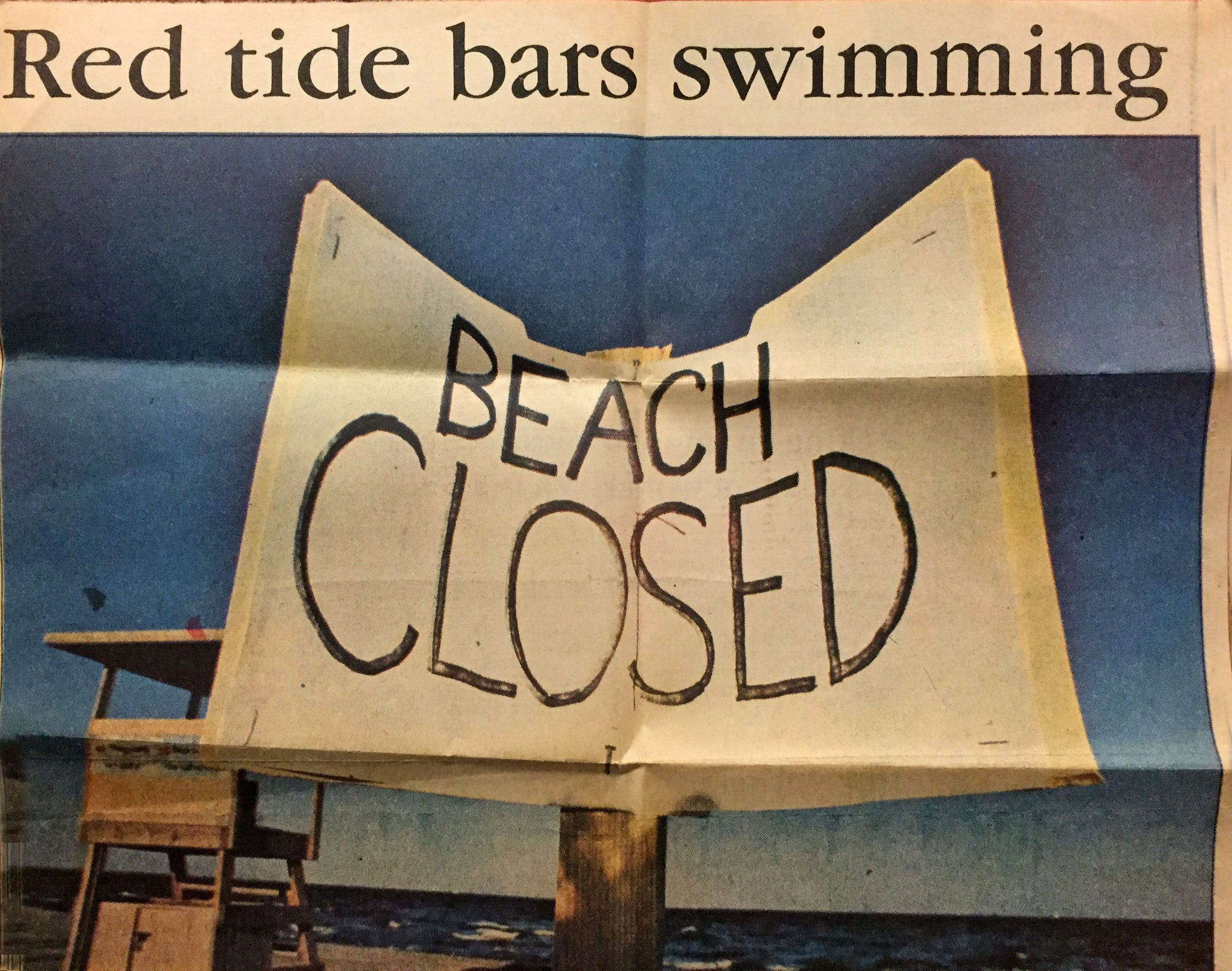 Health officials strongly recommend against swimming around a red tide bloom.