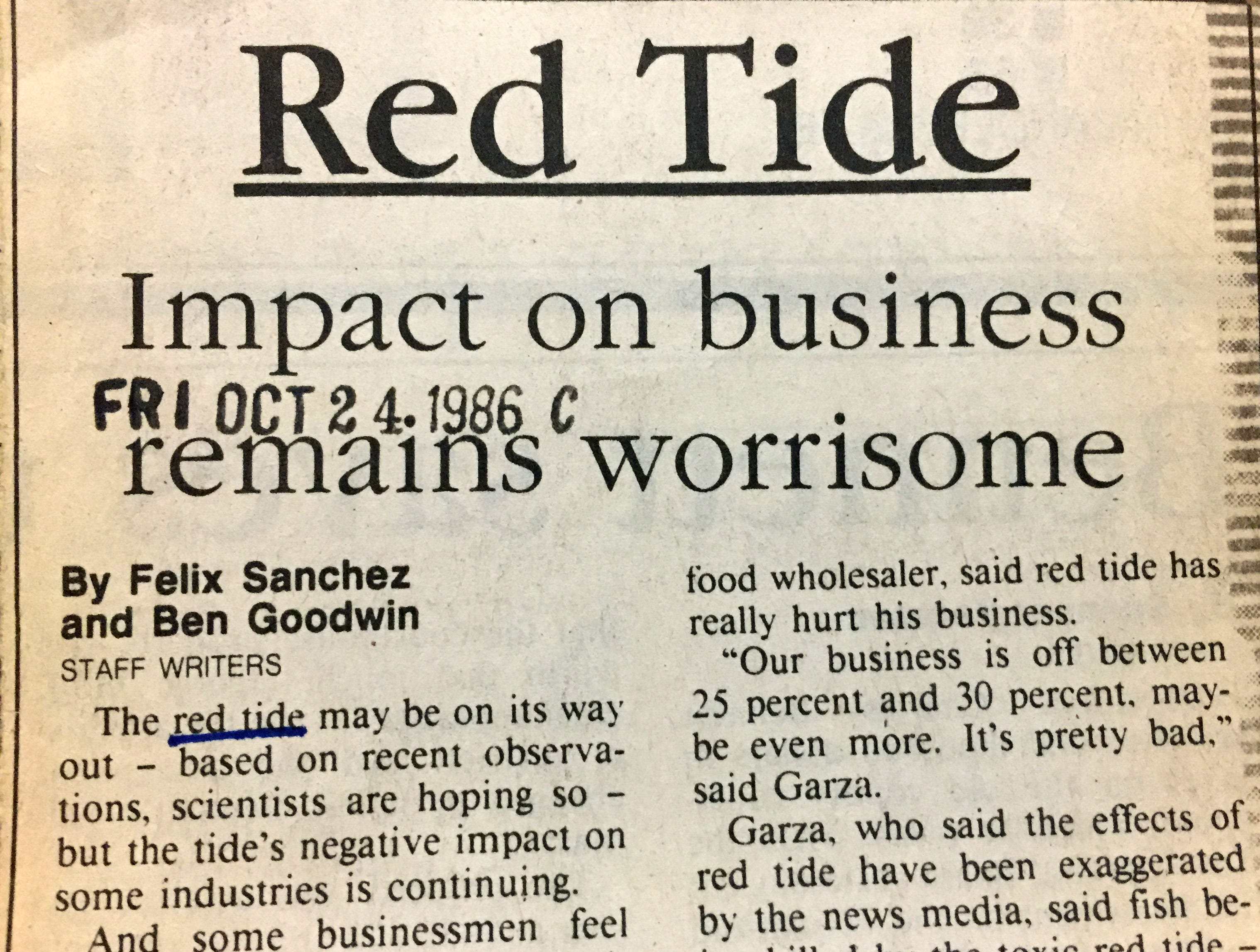 A red-tide early warning system may not help businesses prepare for a bloom.