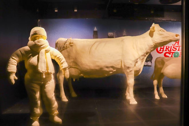 The butter cow is an Ohio State Fair tradition that dates back to the early 1900s. Today, more than half a million fairgoers enjoy the display in the Dairy Products Building each year.