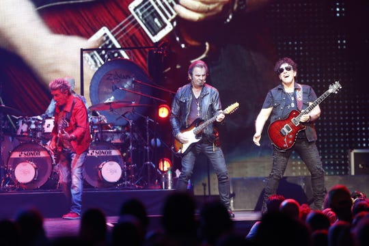 Classic rock act Journey plays Wells Fargo Arena on July 23, 2018.