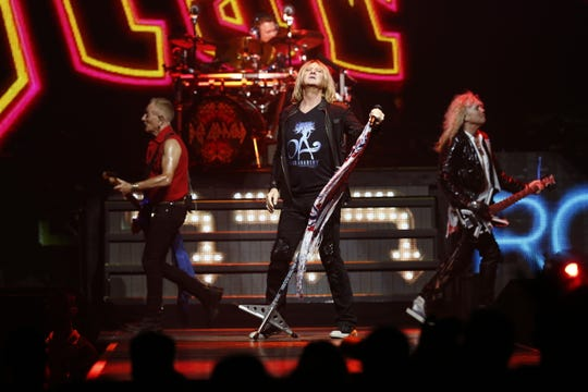 Classic rock act Def Leppard plays Wells Fargo Arena on July 23, 2018.