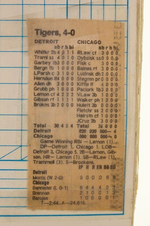 Detroit Tigers pitcher Jack Morris threw a no-hitter against Chicago at  Comiskey Park in Chicago, Illinois on April 7, 1984.