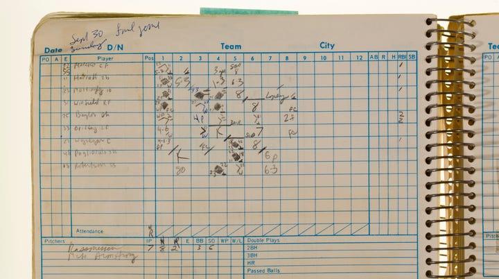 Last regular season game against the New York Yankees at Yankee Stadium on September 30, 1984. Tigers 2, Yankees 9.