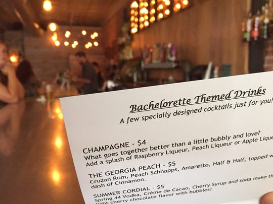 Pour Brothers Community Tavern boasts special Bachelorette-themed drinks for its weekly watch parties.