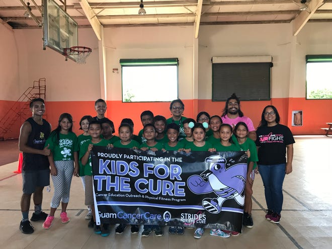 Guam Cancer Care concluded their Kids for the Cure program at Agana Heights Elementary School with over 200 student participants. Mrs. Castro and her fourth-grade class pictured with Principal Hannah Gutierrez, Kids for the Cure coaches and Guam Cancer Care staff.