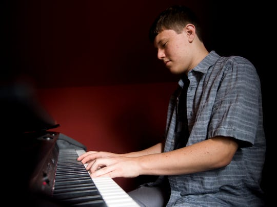 "Ethan Franklin was selected to perform with School of Rock AllStars after auditioning with a piano cover of ""Me and Bobby McGee."""