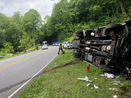 Multi-vehicle wreck on Newfound Gap Road