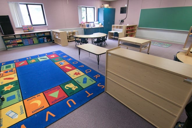 A Great Start Readiness Program classroom is organized Tuesday, July 24, 2018 at the former Southeast Elementary School in Howell.
